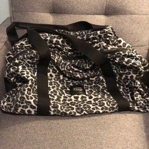 VS tote bag  black and grey animal print